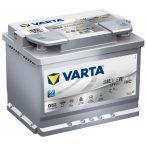 Varta Silver Dynamic AGM 12 V 60 Ah 680 A jobb +