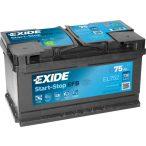 EXIDE EFB 12 V 75 Ah 730 A jobb +   (Ford Mondeo,Ford Focus Start-stop akkumulátor)