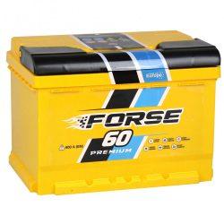 Forse 12 V 60 Ah 600 A jobb + akkumulátor