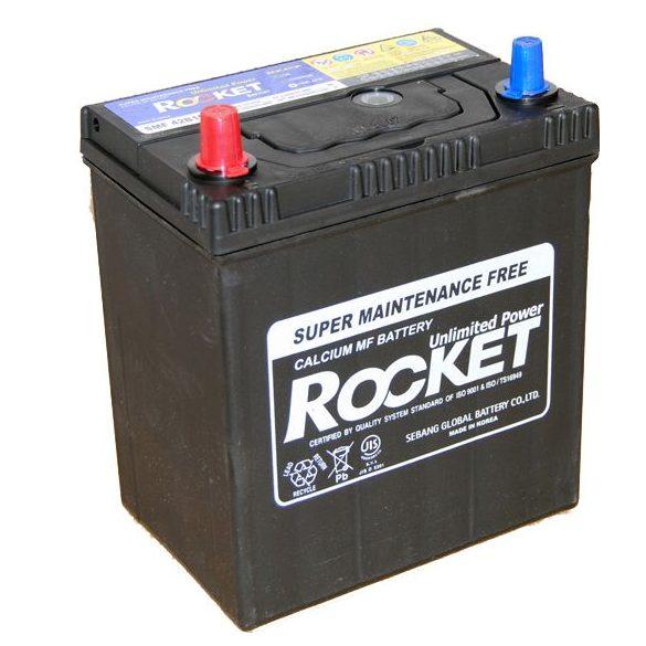 Rocket 12 V 40 Ah bal + vékony sarus akkumulátor