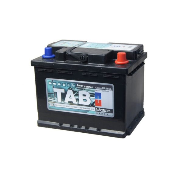 TAB Motion 12 V 60 Ah  jobb + munka akkumulátor