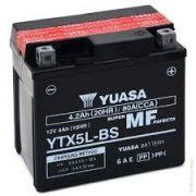 YUASA YTX5L-BS 12 V 4,2 Ah jobb+