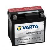 Varta - 12v 4ah - AGM motor akkumulátor - jobb+ * YTX5L-BS