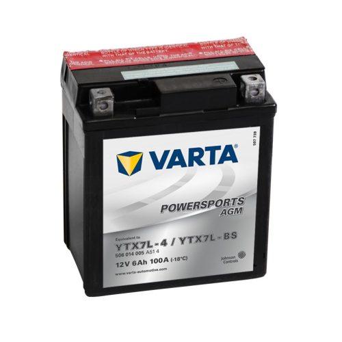 Varta - 12v 6ah - AGM motor akkumulátor - jobb+ * YTX7L-BS