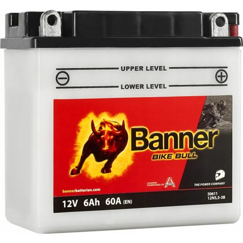 Banner Bike Bull 12 N5,5-3B 12 V 6 Ah 60 A jobb +