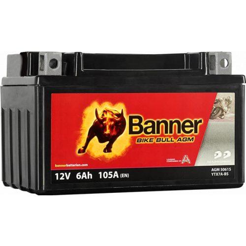 Banner Bike Bull YTX7A-BS 12V 6Ah 105 A bal+