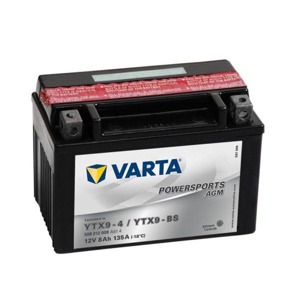 Varta - 12v 8ah - AGM motor akkumulátor - bal+ * YTX9-BS
