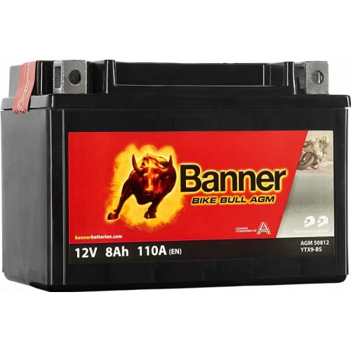 Banner Bike Bull YTX9-BS 12V 8Ah 110 A bal+