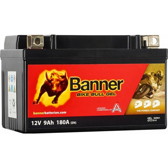 Banner Bike Bull Gel 12V 9 Ah bal+ 180A (YTZ10S) GTZ10-4