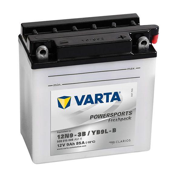 Varta Powersports YB9L-B/12N9-3B 12 V 9 Ah jobb +