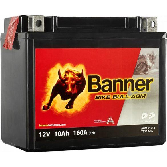 Banner Bike Bull YTX12-BS 12V 10Ah bal+
