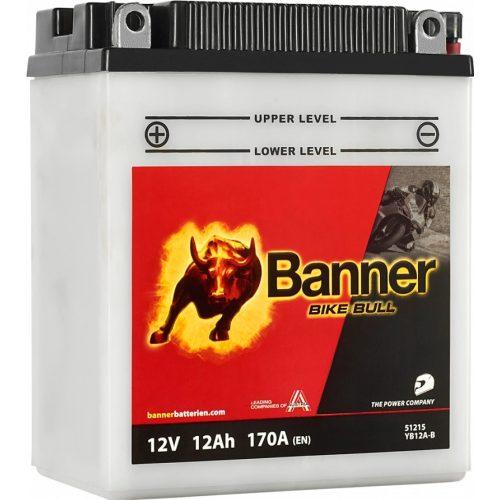 Banner Bike Bull YB12A-B 12 V 12 Ah bal +