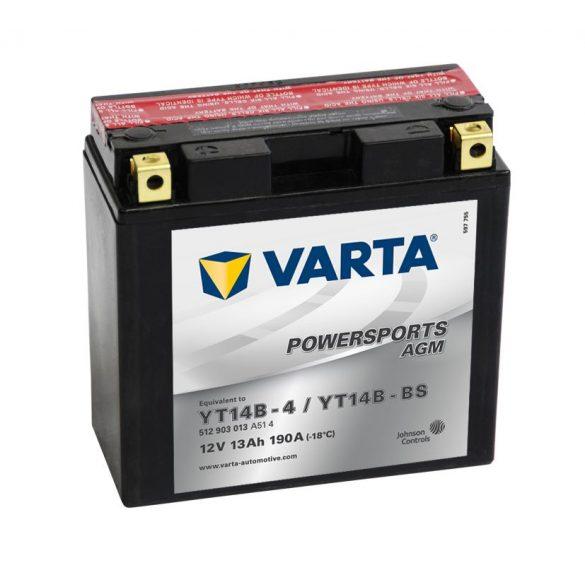 Varta - 12v 12ah - AGM motor akkumulátor - bal+ * YT14B-BS