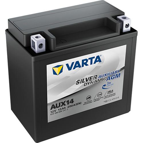 Varta Silver Dynamic Auxiliary AGM 12 V 13 Ah kiegészítő akkumulátor - bal+ YTX14 *AUX14