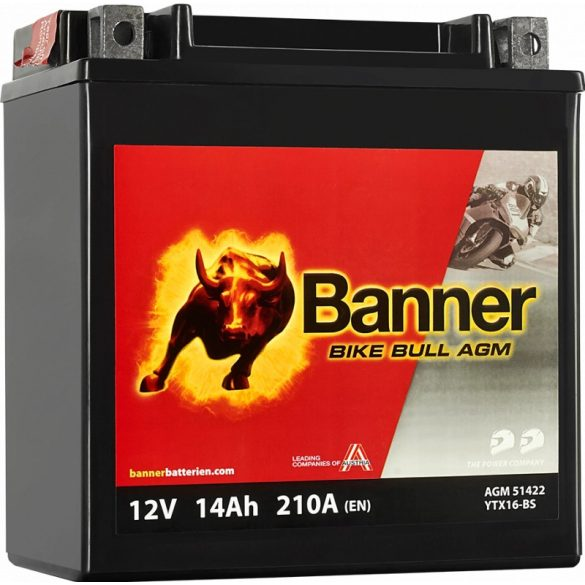Banner Bike Bull YTX16-BS 12V 14Ah bal+