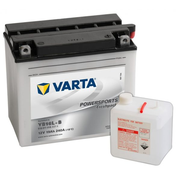 Varta Powersports YB16L-B 12 V 19 Ah jobb +