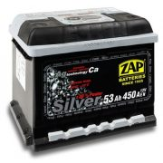 ZAP Silver 12V 53Ah 450A jobb+