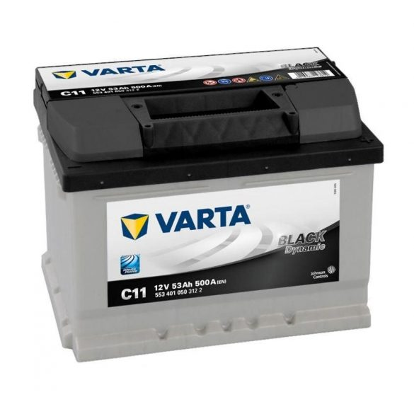 Varta Black Dynamic 12 V 53 Ah 500 A jobb + (Ford Focus)