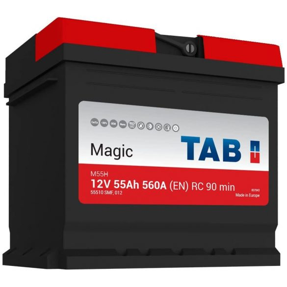 TAB MAGIC 12 V 55 Ah 560 A jobb +
