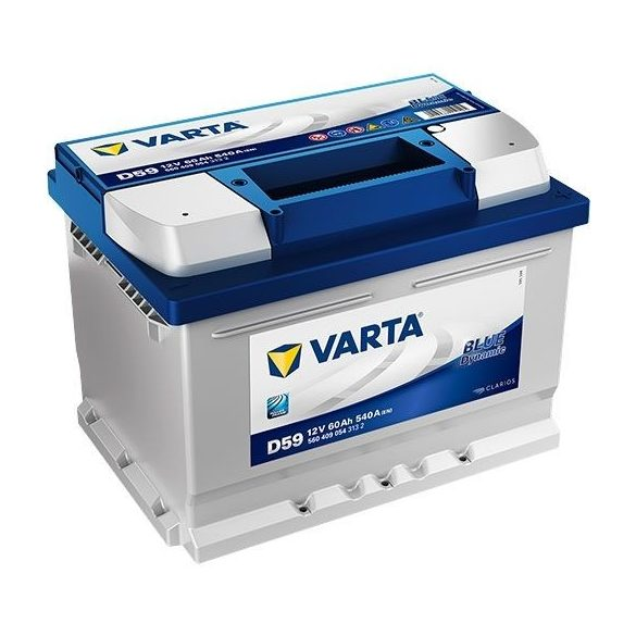 Varta Blue Dynamic 12 V 60 Ah 540 A jobb + (175 mm magas)