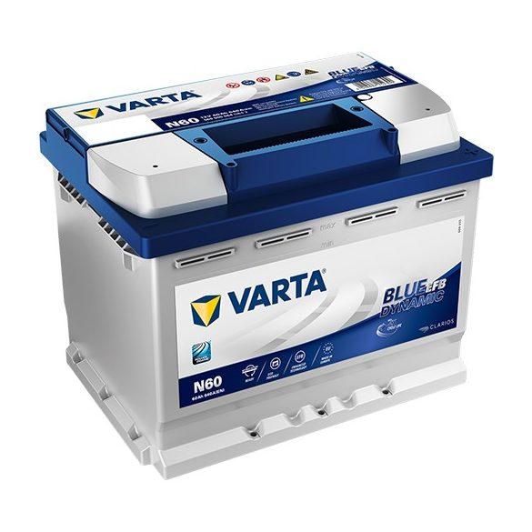 Varta Blue Dynamic EFB 12V 60Ah 640A jobb+