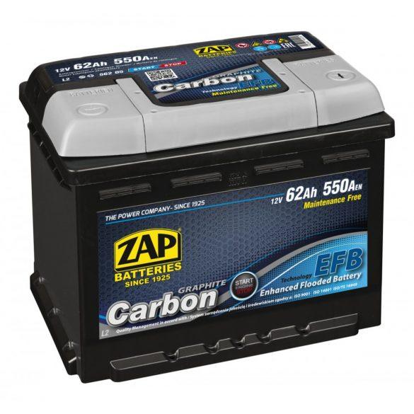 ZAP Graphite Carbon EFB 12 V 62 Ah 550 A jobb +