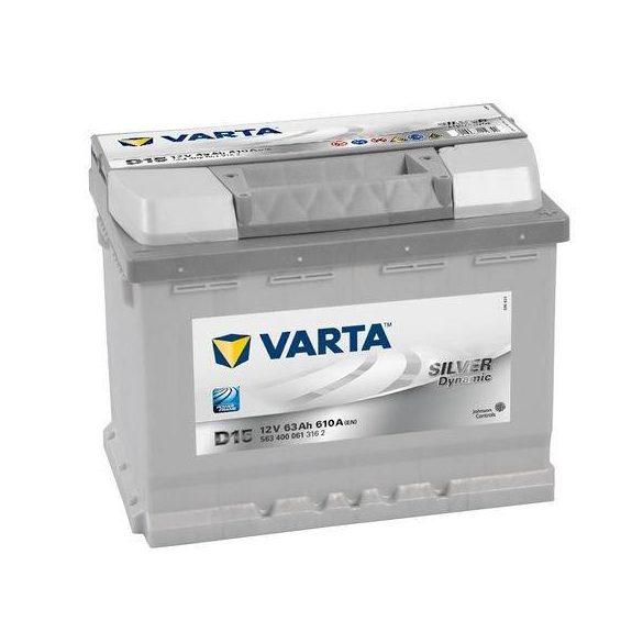 Varta Silver Dynamic 12 V 63 Ah 610 A jobb+ akkumulátor