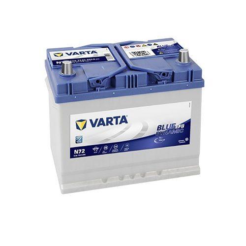 Varta Blue Dynamic EFB 12 V 72 Ah 760 A  jobb +
