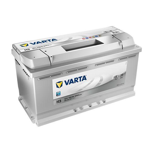 Varta Silver Dynamic 12 V 100 Ah 830 A jobb + akkumulátor