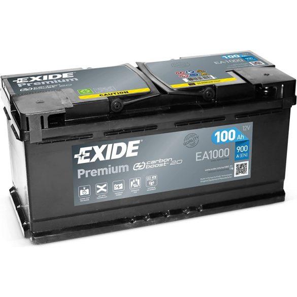 Exide Premium 12V 100 Ah 900A jobb+