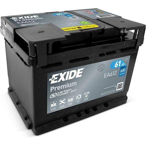 Exide Premium 12 V 61 Ah 600 jobb + EA612