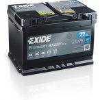 Exide Premium 12V 77 Ah 760A jobb+