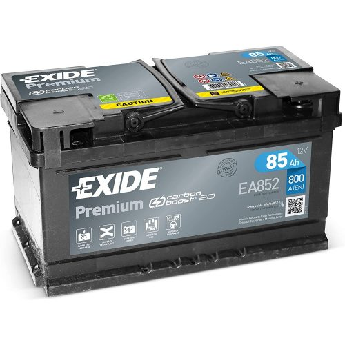 Exide Premium 12 V 85 Ah 800 A EA852 jobb +