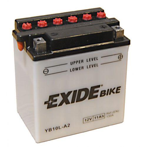 Exide Bike YB10L-A2 12 V 11 Ah 130 A jobb +