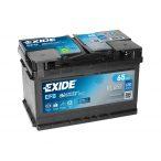 EXIDE EFB 12 V 65 Ah 650 A jobb +  (FORD család START-STOP) akkumulátor
