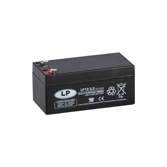LP 12 V 3,2 Ah szünetmentes akkumulátor