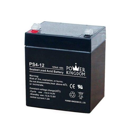 Power Kingdom 12 V 4 Ah UPS akkumulátor
