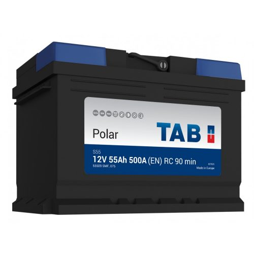 TAB Polar S 12 V 55 Ah 500 A jobb +
