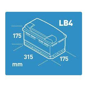 12V 80-90 Ah 315 mm Eu