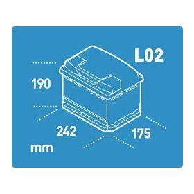 12V 55-69 Ah 241 mm Eu