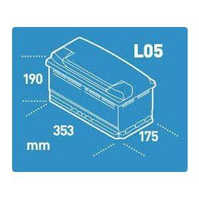 12V 95-100 Ah 354 mm Eu