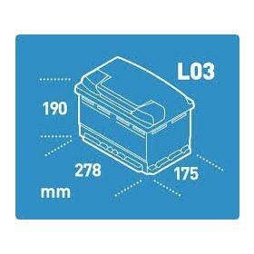 12V 70-80 Ah 278 mm Eu