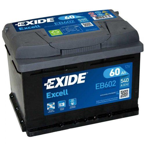 Exide Excell 12V 60 Ah 540A jobb+