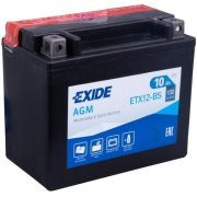 EXIDE ETX12-BS  (YTX12-BS) 12 V 10 Ah 150 A  bal+