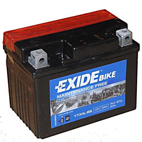 EXIDE ETX4L-BS 12V 3Ah 50 A Jobb+