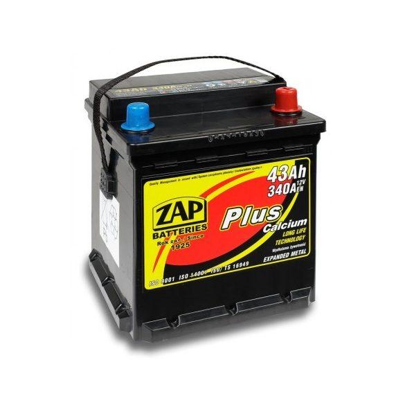 Zap Plus 12 V 43 Ah 340 A  Punto jobb+